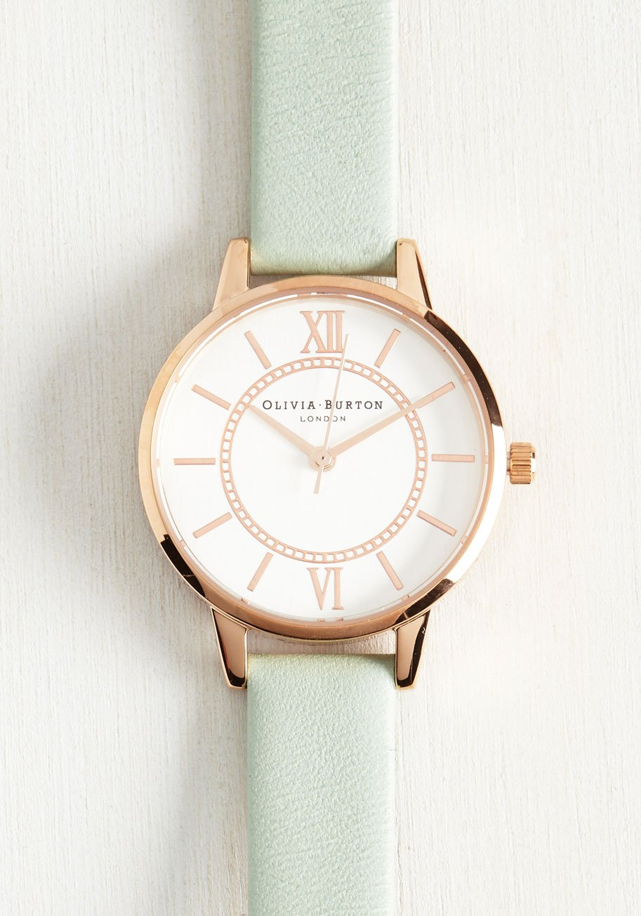 Head of the Classic Watch in Mint Rose Gold, gifts moms want