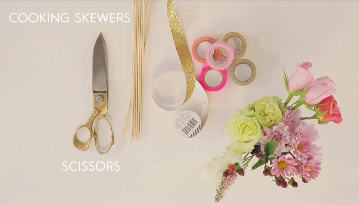 How2 Make Decorative Flower Sticks
