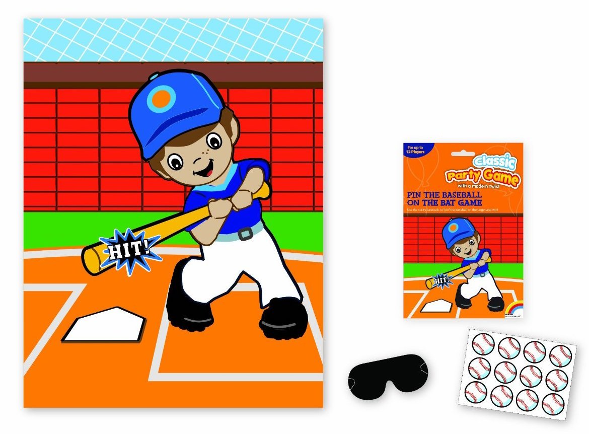 Pin the Baseball Party Game