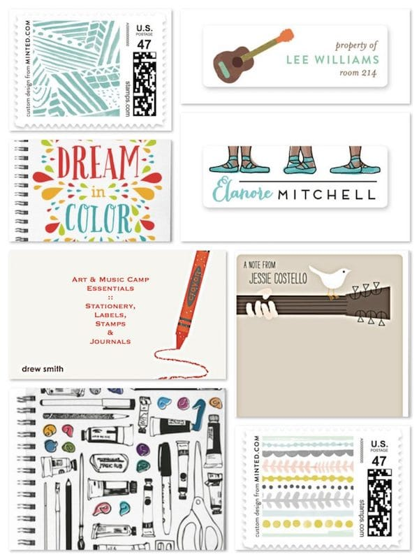 Arts & Music Camp Essentials Stationery Labels Stamps & Journals