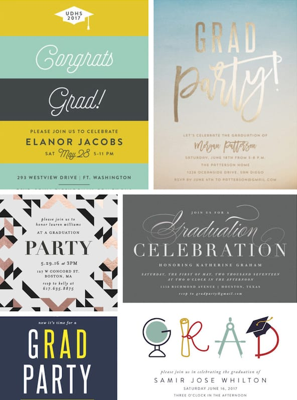 graduation party invitations decor favors partyideapros com