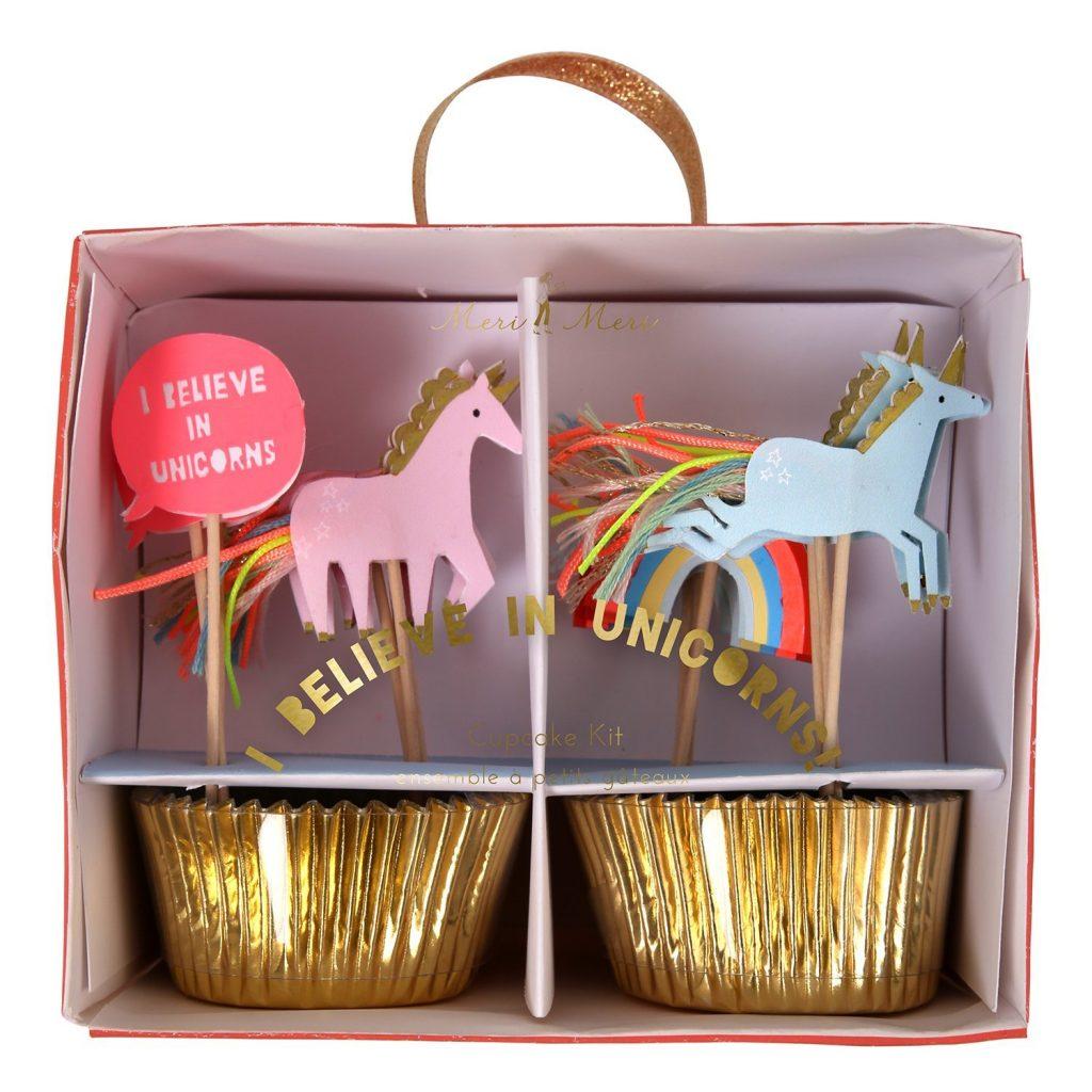 I Believe in Unicorns Cupcake Kit, Unicorn Party