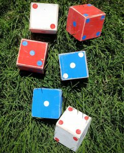 Patriotic Lawn Dice Game