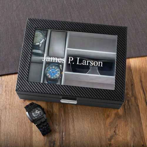 Personalized Watch and Sunglasses Box, Personalized Groomsmen Gifts