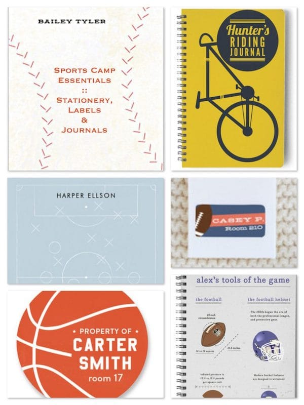 Sports Camp Essentials >> Stationery Labels & Journals