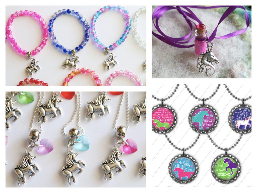 Unicorn Theme Party Favor Necklaces, Unicorn Party