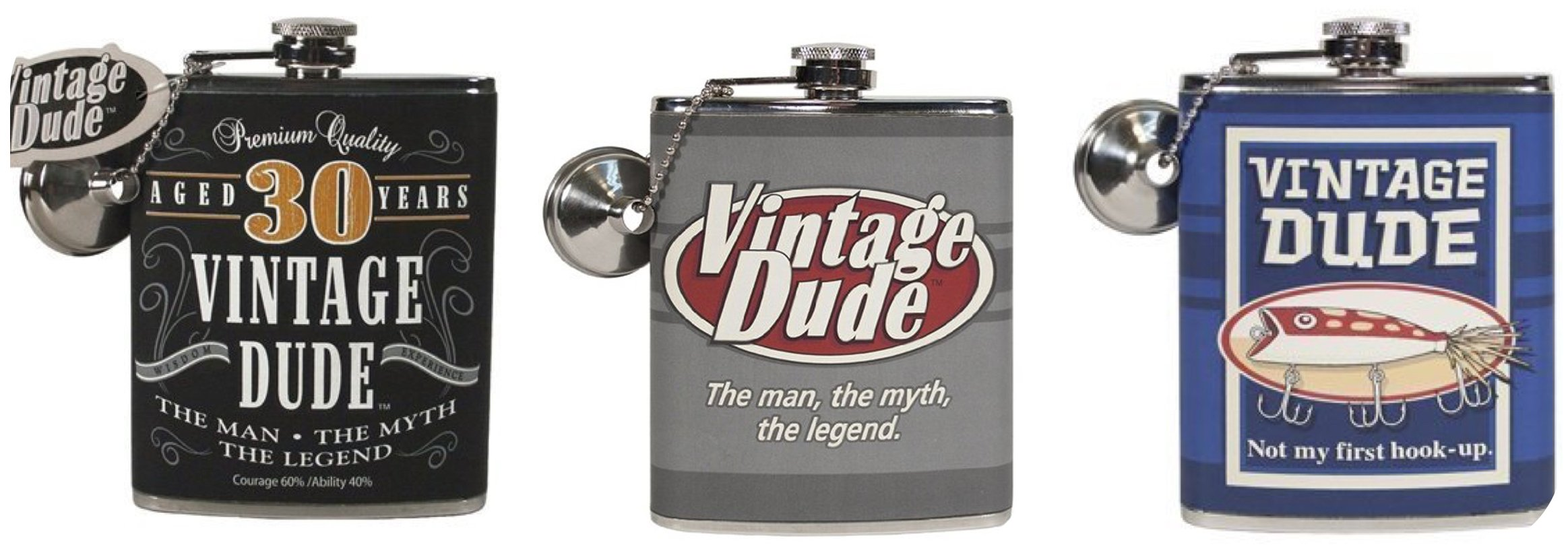 Vintage Dude Flask