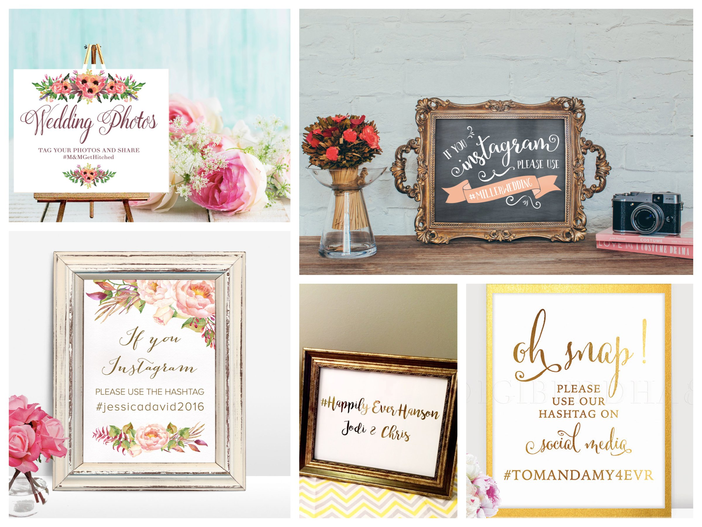 Wedding Instagram Hashtag Signs