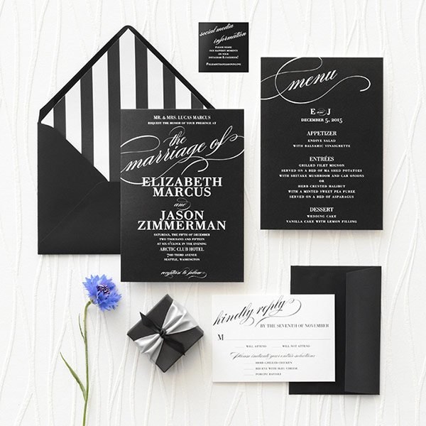 Wedding Suite with Social Media Enclosure Cards