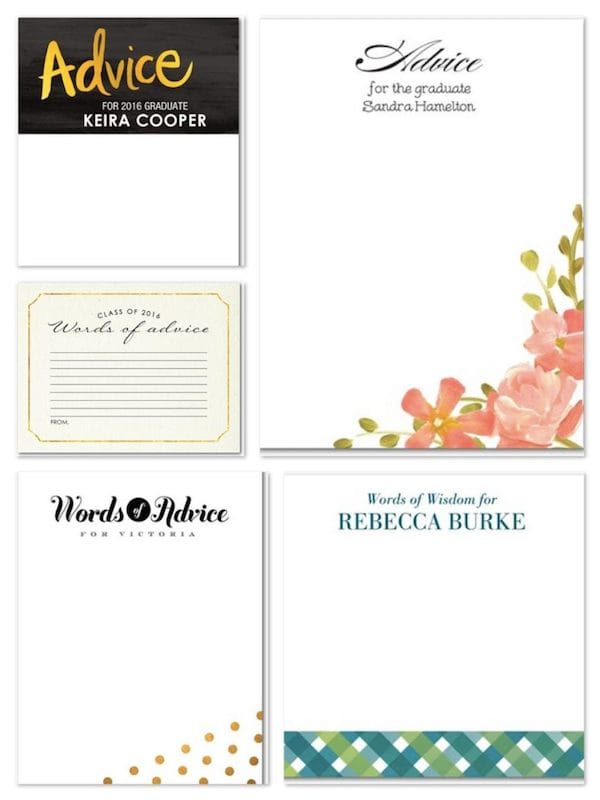 Words of Advice for the Graduate Stationery