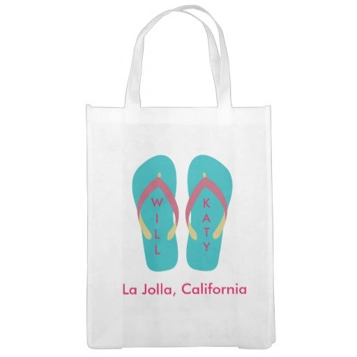 Beach Wedding Flip Flop Welcome Bags Market Totes