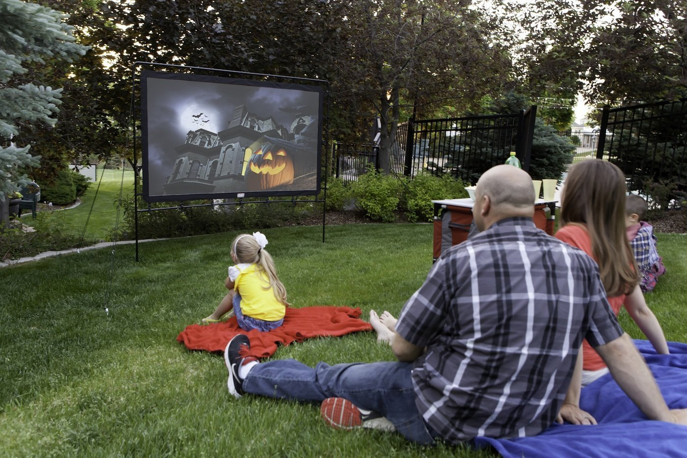 Backyard Movie Night, Fathers Day Fun