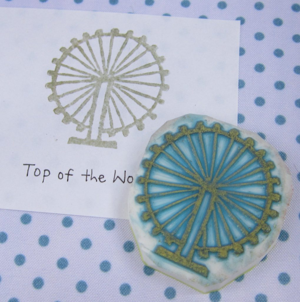 Carnival Ferris Wheel rubber stamp