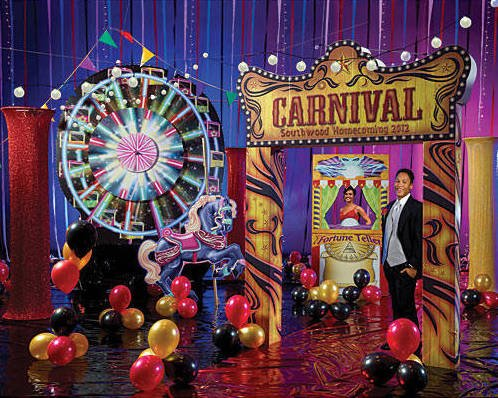 Carnival Lights and Ferris Wheel Party Decor Kits
