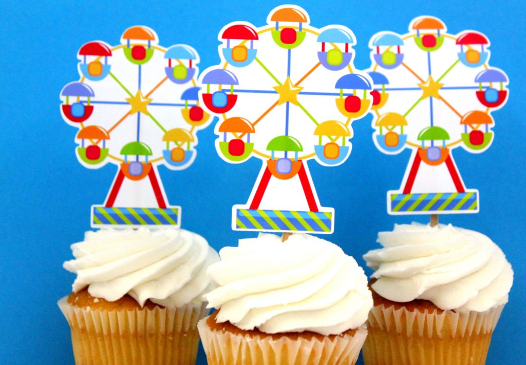 Ferris Wheel Die Cut Cupcake Topper