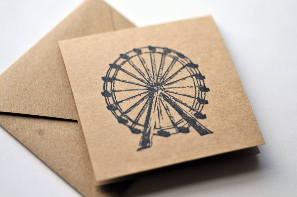 Ferris Wheel Mini Cards Party Favors