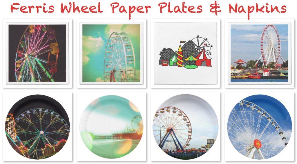 Ferris Wheel Paper Plates & Napkins