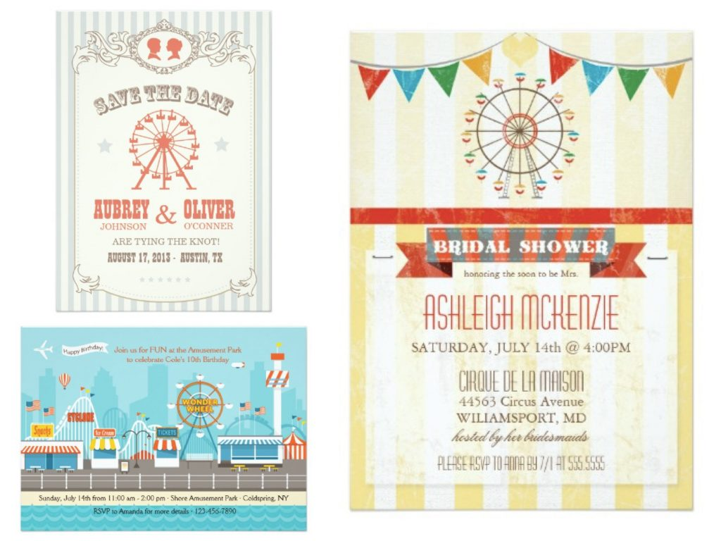 Ferris Wheel Invitations