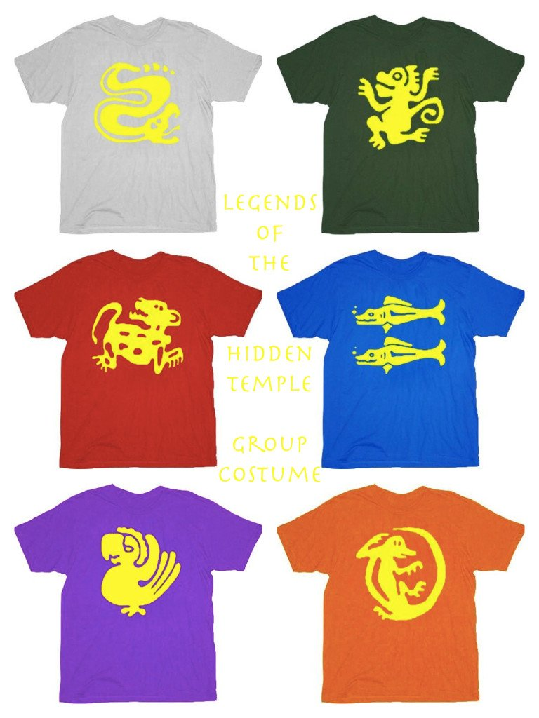 Legends of the Hidden Temple T-Shirts, Fathers Day Fun