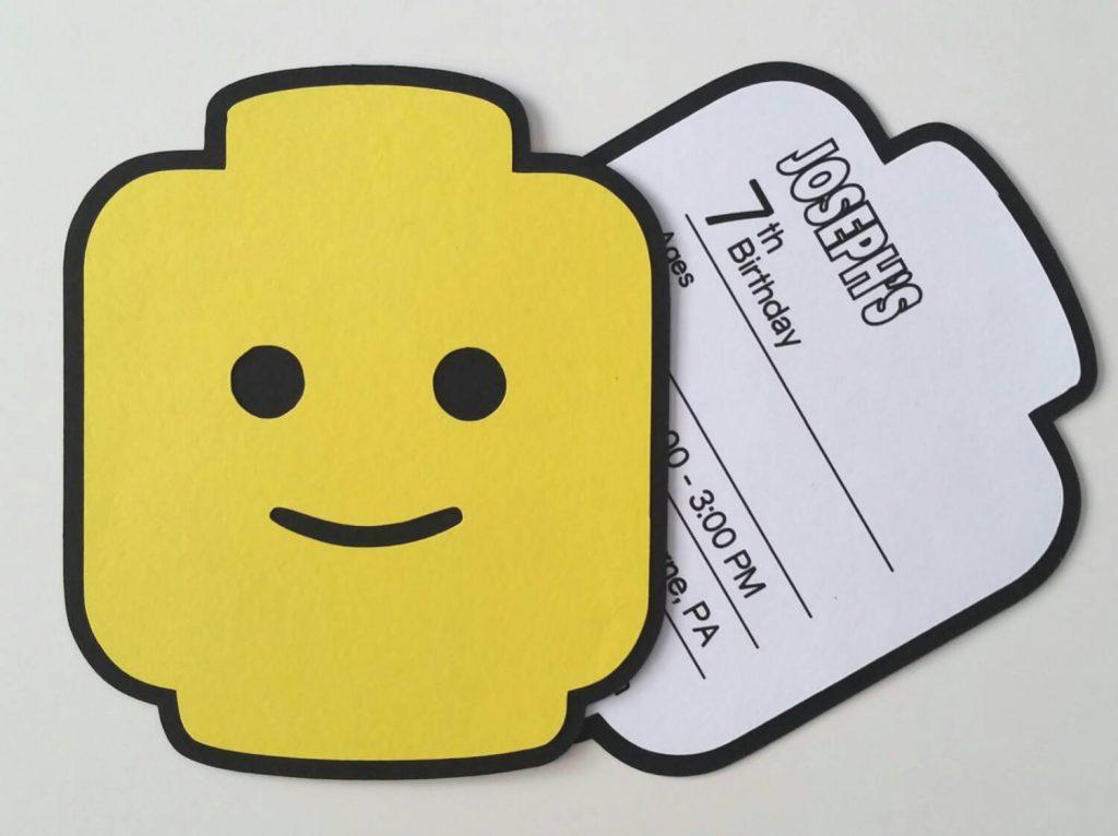Lego Fill-In Party Invitation