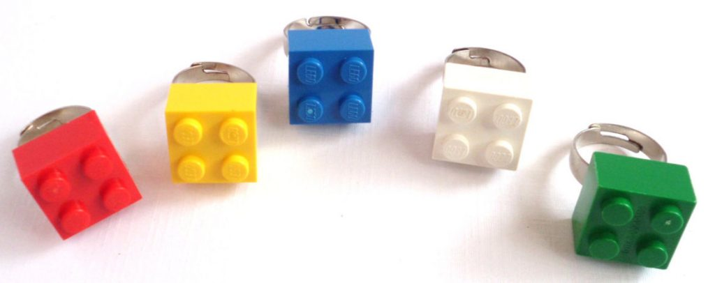 Lego Party Favor Rings