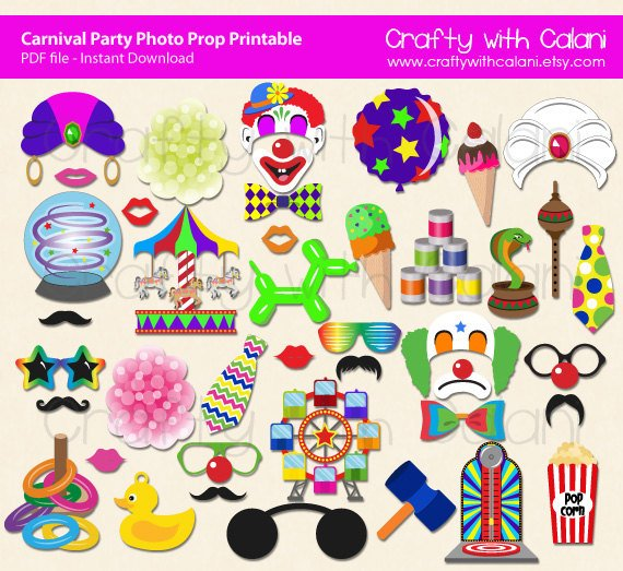 Printable Carnival Party Photo Booth Prop