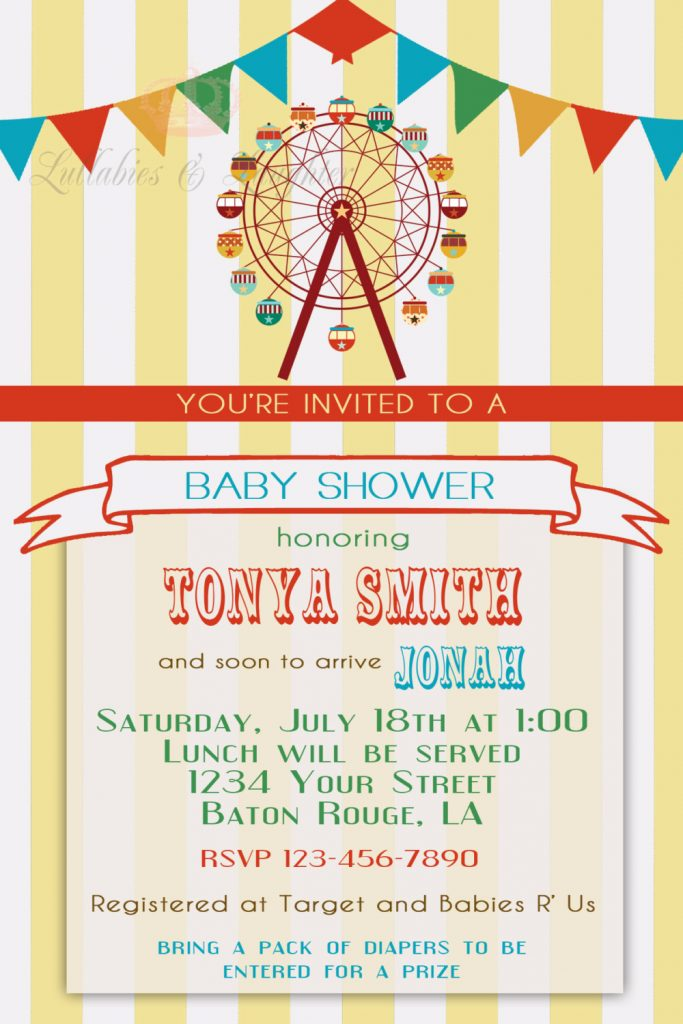Printable Ferris Wheel Invitation