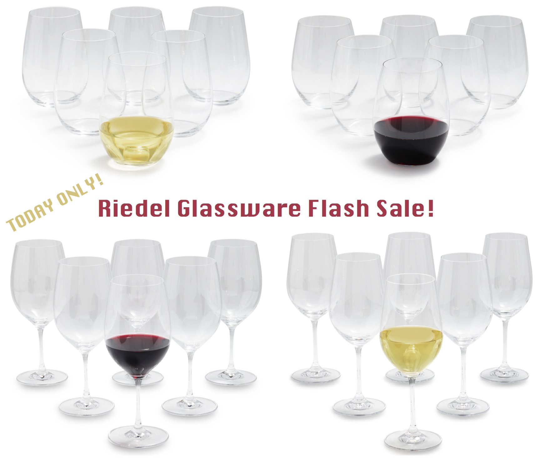 Riedel Glassware Flash Sale