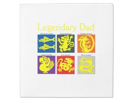 Legendary Dad Luncheon Napkins