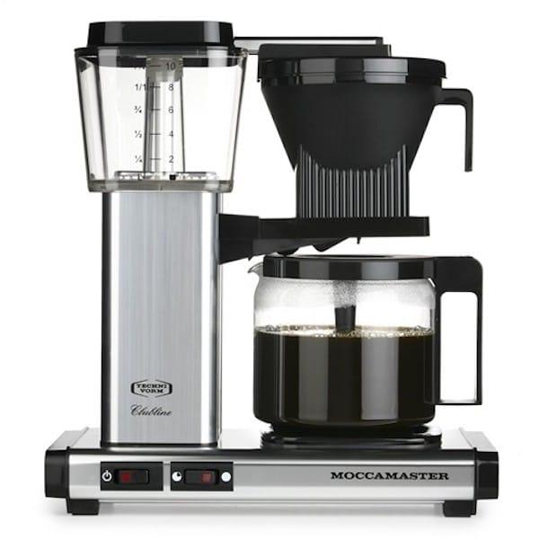 technivorm moccamaster polished coffee maker