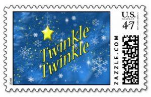 Twinkle Twinkle Star Postage Stamp