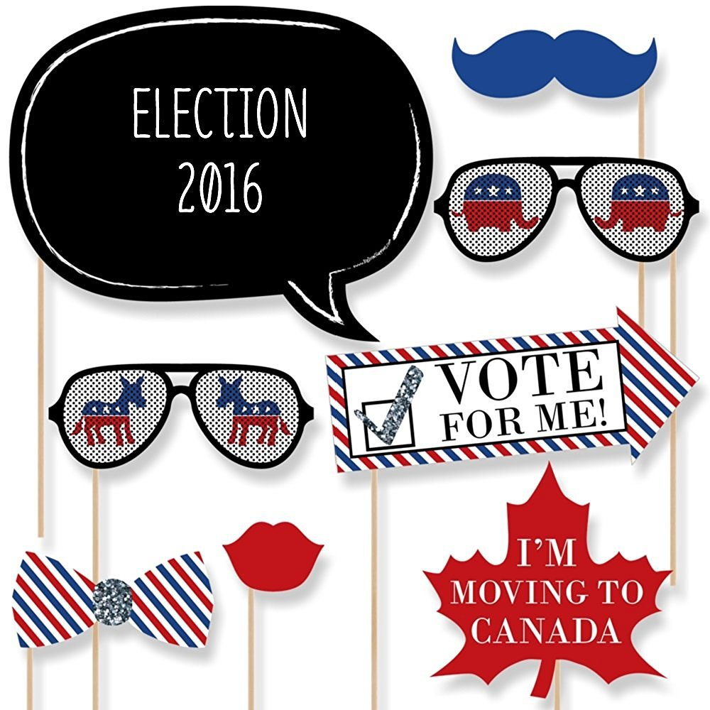 2016 Presidential Election Photo Booth Prop Kit