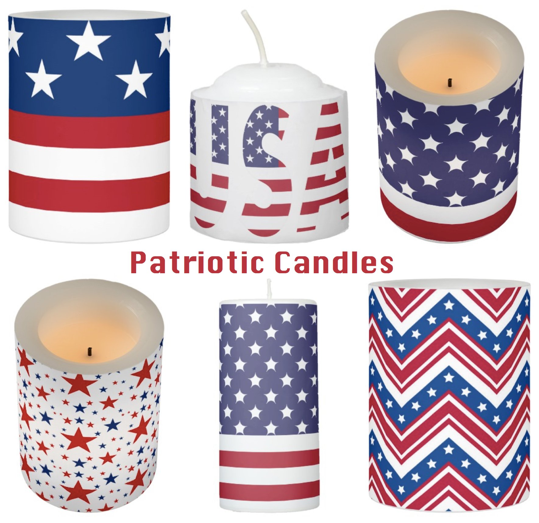Patriotic Candles for Political Events