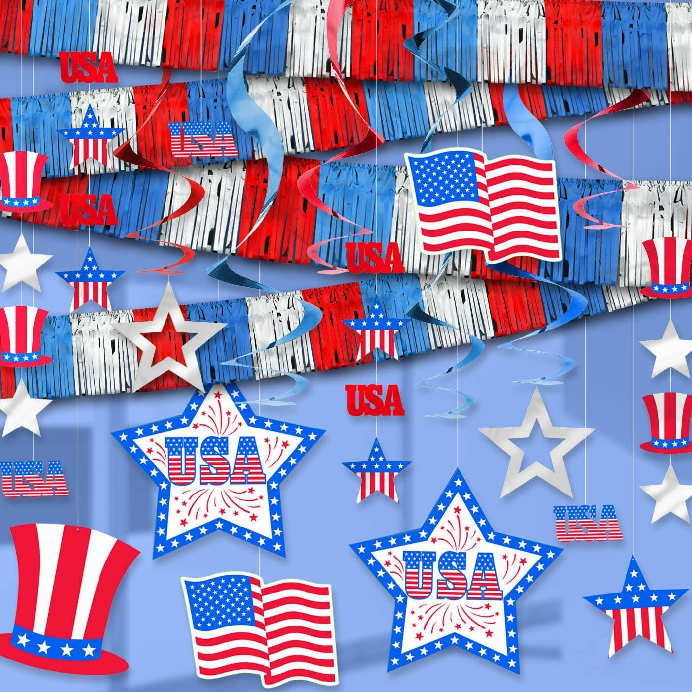 Patriotic Room Decorating Kit