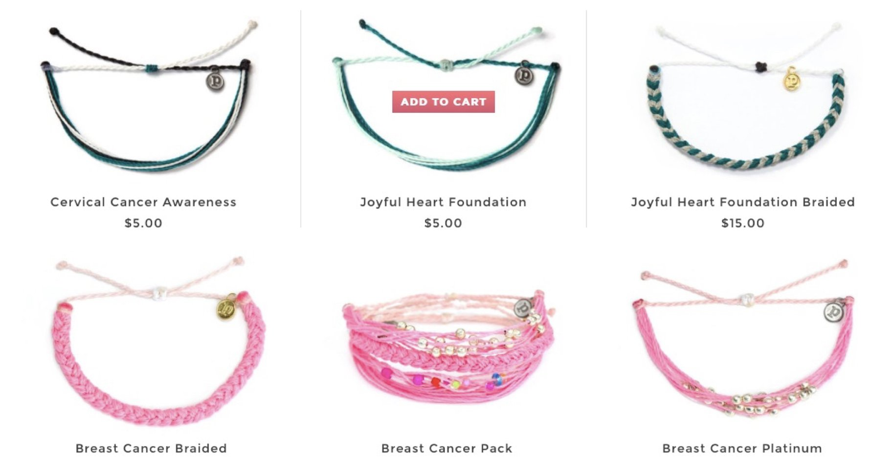 Puravida Bracelets for womens causes