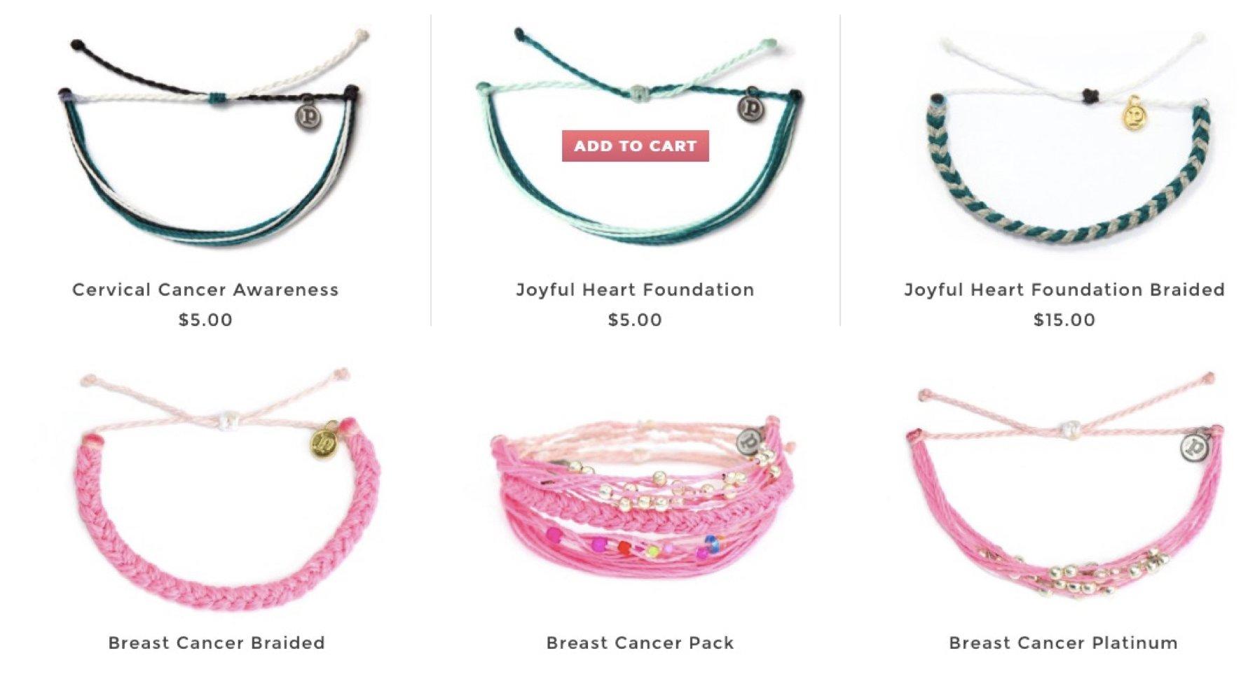 Puravida Bracelets for womens causes