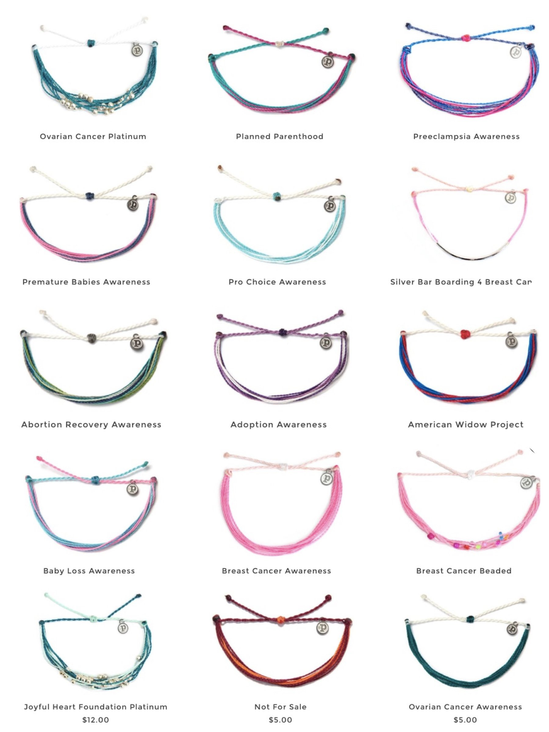 Puravida Bracelets for women's causes