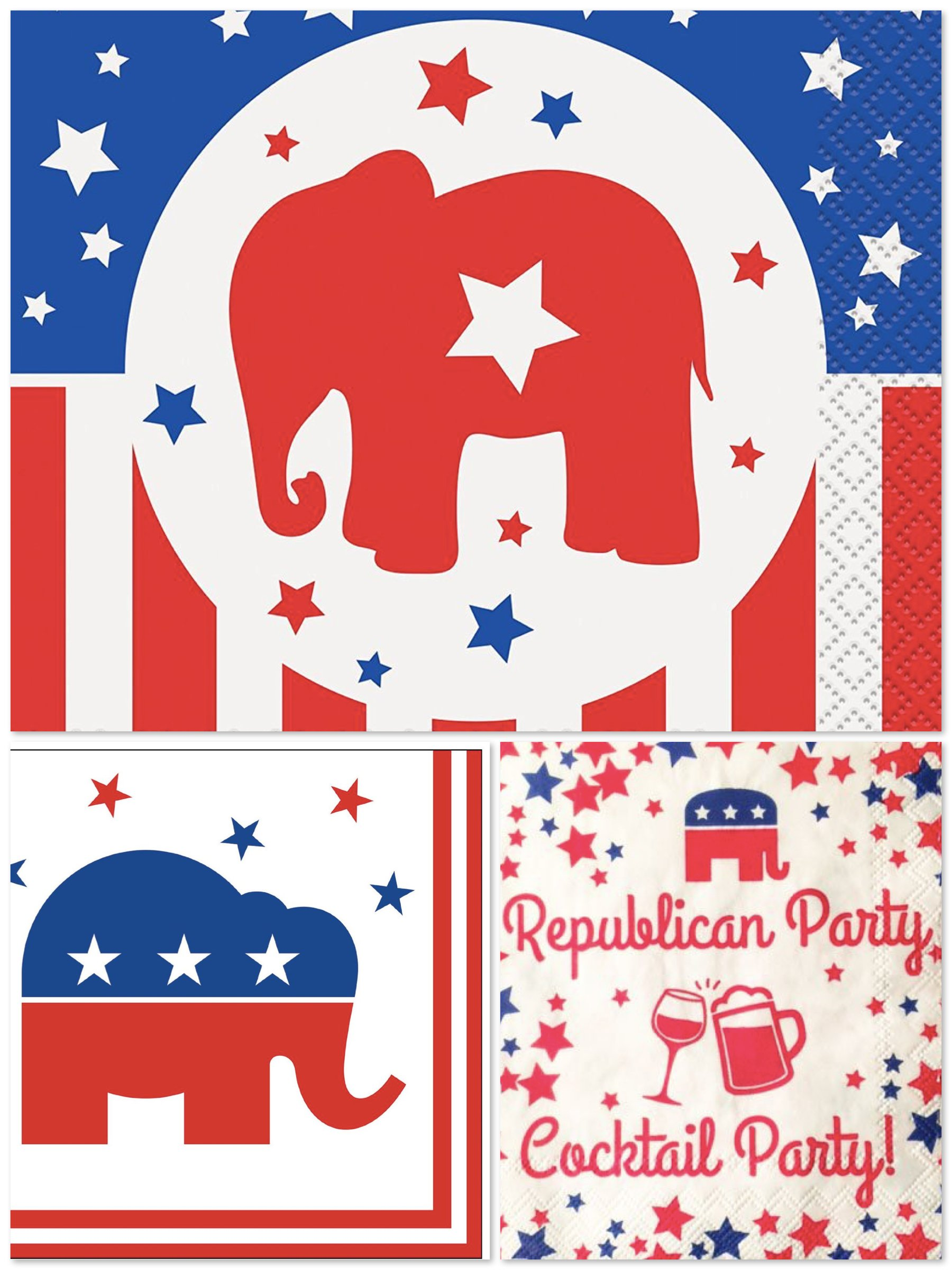 Republican Party Election Cocktail Napkins