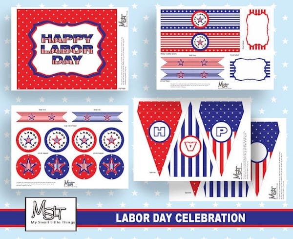 Labor Day Printable Decorations