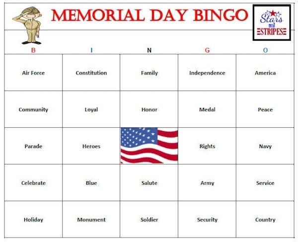 Memorial Day Bingo
