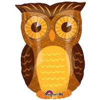 Owl party mylar balloon