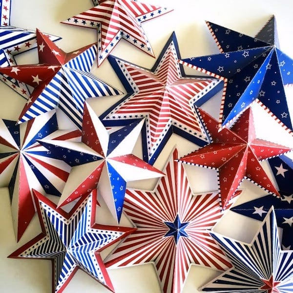 Printable Patriotic Star Decorations