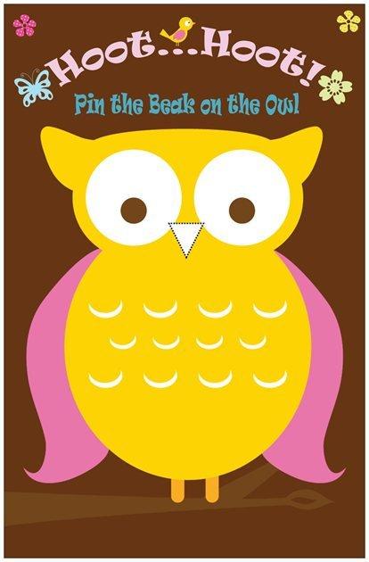 Printable Pin the Beak on the Owl