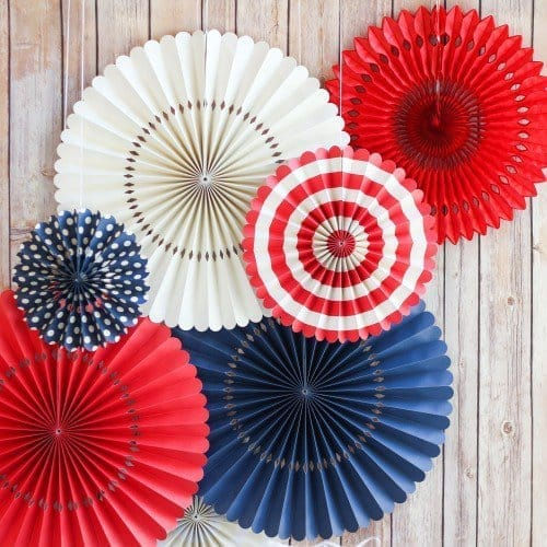 Patriotic Pinwheel Decorations