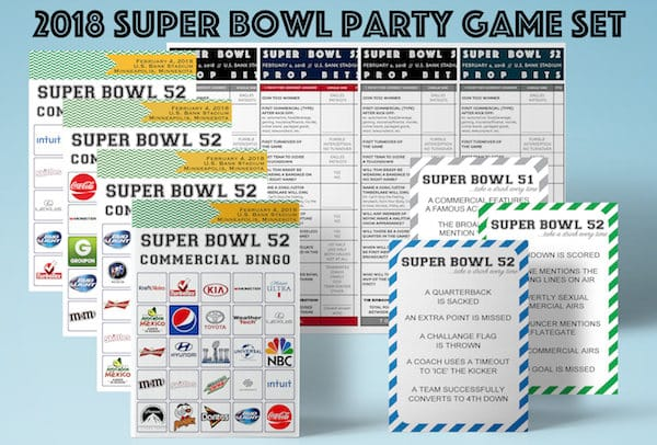 2018 Super Bowl Printable Party Games