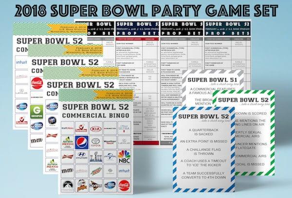 2018 Super Bowl Printable Party Games