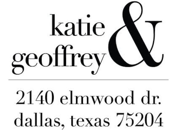Ampersand Return Address Stamp, Custom Stamps and Embossers