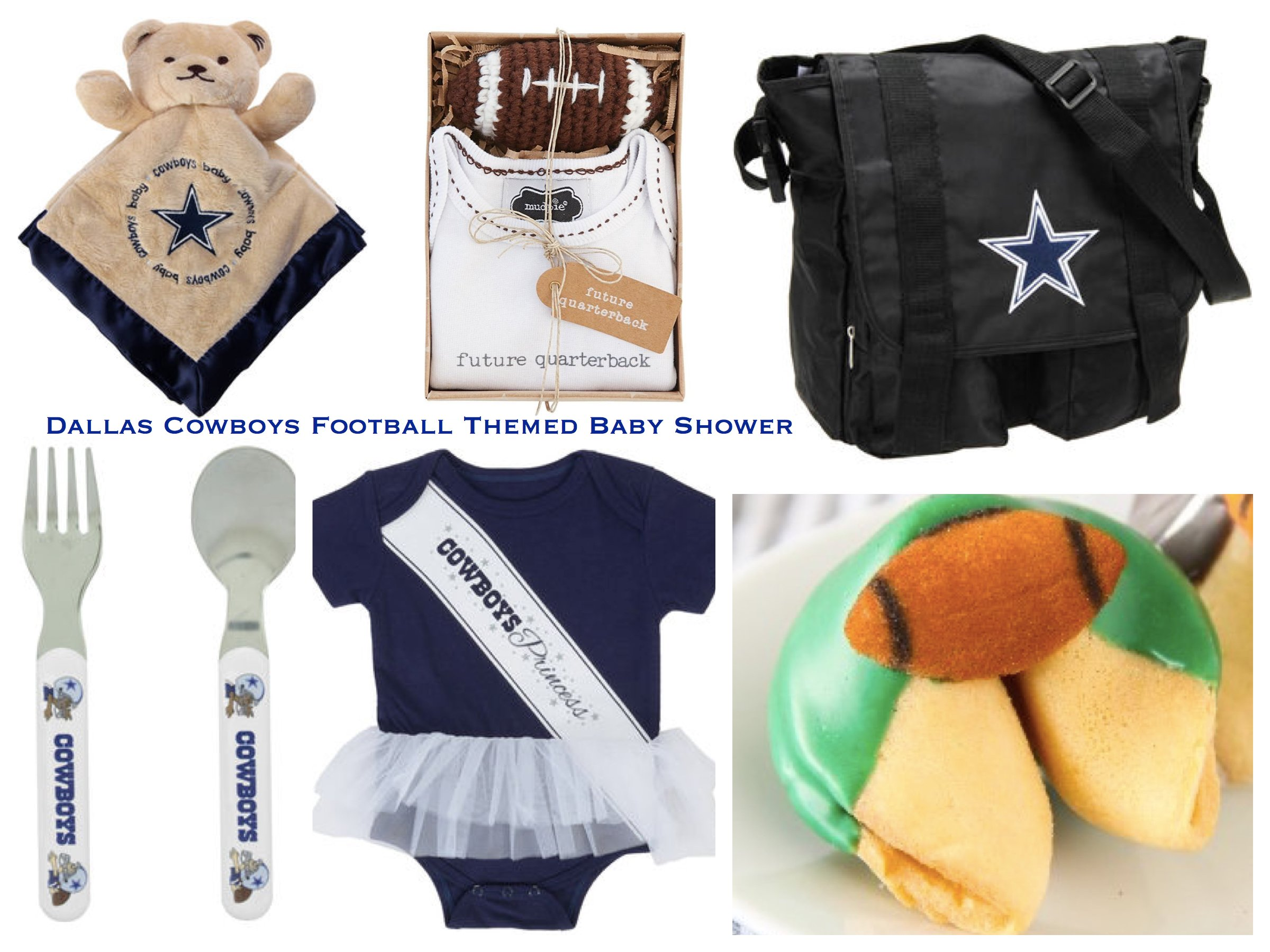 Dallas Cowboys Football Themed Baby Shower | PartyIdeaPros.com