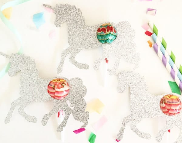 Glitter Unicorn Lollipop Chuppa Chup holders