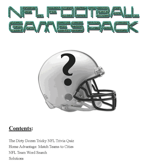 Printable-NFL Football-Games Pack